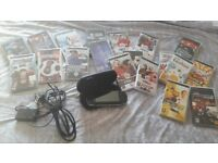 Psp charger and case comes with 20 games
