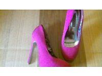 pink size 4 stilettos