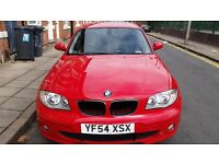 BMW 1st Series Red Car Excellent Condition