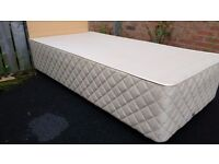 two Single beds, 25 each slumberland with head boards