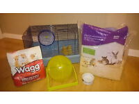 hamster cage with accesories