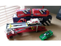 Corgi Cars and Transporter With Boxes