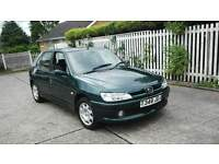 Peugeot 306 1.4 1 owner from new years mot very low mileage ideal first car