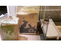 2 female guinea pigs & cage & accessories