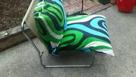 chrome framed chair