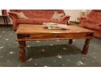 Coffee Table, SA Kiaat wood, turned legs