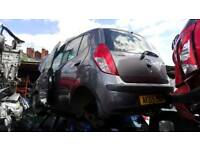 Hyundai I 10 breaking silver gray black