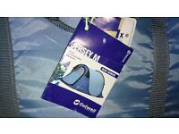 2 man pop up tent. Outwell Jersey M. Blue excellent condition.