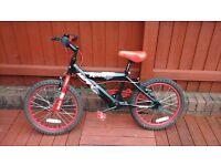 Boys rebel bike black/red 18 inch wheels