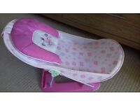 Pink baby/ infant bather /bath chair