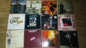 12 x eric clapton vinyl LP's - unplugged / 24 nights / no reason