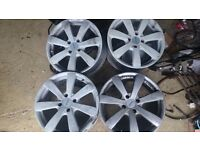 "Peugeot 306 17"" alloys may fit ford etc,no tyres as in pic,"