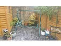 Garden swing seat frame