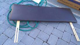 Leather look double headboard