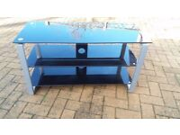 TV stand / table, Black glass