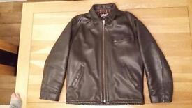 Men's Schott NYC Brown Leather Jacket
