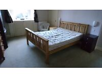 King sized timber bed