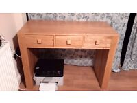 Super Heavy Solid Wood Desk With a Oak Veneer . Pick up from BS16 4LW