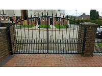 Hand made wrought iron gates