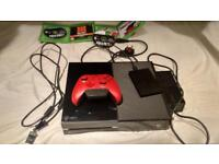 Xbox one with game and 1tb which is 1000 gb