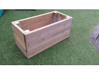 Decking Planter upcycled from deck board