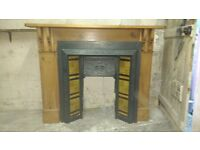 Fireplace - Victorian Cast Iron Tiled Fireplace with Fire Surround