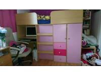 Girls bed unit and mattress for sell