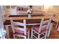 Stunning rustic farmhouse dining set