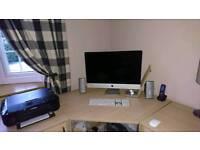 Corner Desk and cupboards