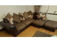 Corner sofa and matching 2 seaters sofa