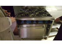 Blue seal 6 burner cooker and oven