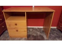 Wood 2 Drawer Desk