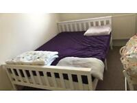 Double Bed (mattress with mattress covers free)