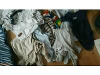 Boys 3-6 months clothes bundle - 24 items including 2 next pram suits