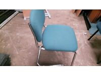 4 matching chrome finish office chairs