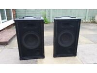 Pair of DJ PA Speakers, 150W RMS, Speakon connections