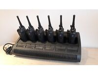 Motorola Hand Held UHF Radios & Single & 6 Way Chargers DP3400 & DP4400 Fully Programmed