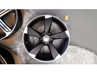 "18"" AUDI ROTOR STYLE ALLOYS WHEELS TT S LINE TTS RS3 RS4 RS5 RS6 RS7 A3 A4 A5 A6 S1 GOLF SEAT"
