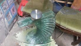Spiral Glass Dinning Table-Used