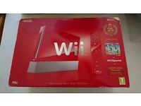 Nintendo Wii Red Super mario Edition Used + extras