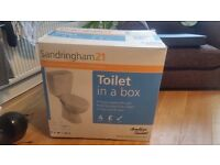 Sandringham 21 Toilet in a Box (part package: toilet, seat and cover only - no cistern)