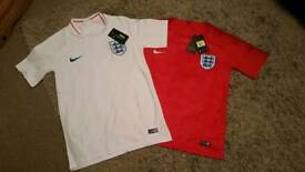 England football shirts, brand new