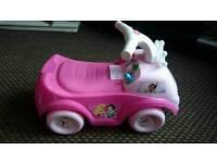 Disney Princess ride along and pink trike