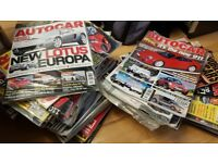 69 issues of Autocar Magazine, FANTASTIC CONDITION, a lot still in plastic envelope. URGENT SALE