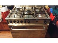 LOFRA 70cm wide GAS COOKER 5burner/ OVEN. STAINLESS STEEL / GAS HOBGAS OVEN