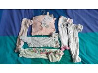 Baby girl newborn size mamas & papas bundle.
