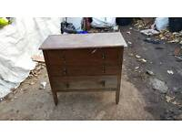 Vintage chest of draws on carsters
