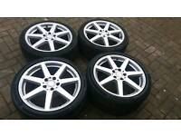 GENUINE MERCEDES BENZ 18 INCH ALLOY WHEELS DIAMOND CUT 5X112 C E CLASS CLS VW GOLF