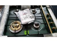 Gas hob green enamel new never fitted