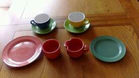 Cups saucers plates